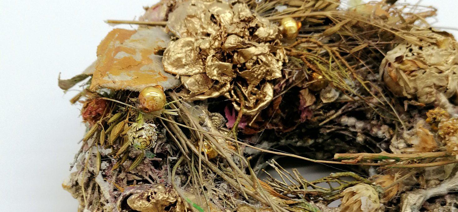 Antiker Kranz aus der Natur-Schatzkiste